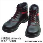 シモン 安全靴 編上靴 黒/赤  25.5cm SL22R25.5