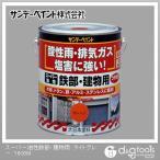 サンデーペイント スーパー油性鉄部・建物用 変性アルキッド系合成樹脂塗料  ライトグレー 1.6L