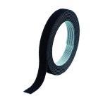 トラスコ マジックバンド結束テープ 両面 黒 10mm×1.5m   MKT1015BK