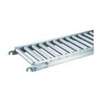 トラスコ φ38アルミローラーコンベヤ W400×P100×L3000mm  VR-AL3815F-400-100-3000