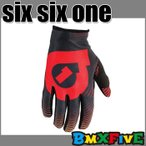 BMX専門店 SIX SIX ONE/661 子供用バイクグローブ VORTEX GLOVE/ブラック BMX用パーツ