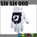 BMX専門店 SIX SIX ONE/661 子供用バイクグローブ YOUTH VORTEX GLOVE/ホワイト BMX用パーツ