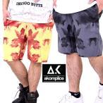 ハーフパンツ メンズ 秋冬 ブランド ショートパンツ おしゃれ 太め ゆったり タイダイ柄 大きいサイズ AKOM PLICE 半ズボン
