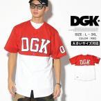 DGK カジュアルシャツ メンズ 半袖 ベースボールシャツ BULLPEN JERSEY 大きいサイズ