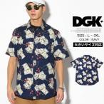 DGK カジュアルシャツ メンズ 半袖 ドル柄 COME UP WOVEN 大きいサイズ 夏 サマー