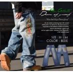 ジーンズ メンズ 大きいサイズ デニムパンツ ダメージ マリア 刺繍 B系 ファッション ストリート系 HIPHOP 春