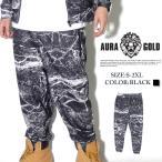 スウェットパンツ メンズ ジョガーパンツ AURA GOLD FF36006 B系 ストリート系 BIG SEAN ビッグショーン ブランド