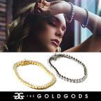 THE GOLD GODS ブレスレット メンズ 4mm Diamond 3-Pr