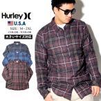 Hurley ハーレー カジュアルシャツ メンズ 長袖 チェック柄 BV1568 大きいサイズ
