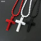 B系 ネックレス メンズ HIPHOP ジュエリー JESUS 十字架 クロス ネックチェーン
