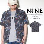 カジュアルシャツ メンズ 半袖 総柄 アロハシャツ NINE RULAZ B系 ストリート系