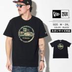 ニューエラ Tシャツ メンズ 半袖 NEWERA Cotton Tee Forest Camo フォレスト カモ Visor Sticker