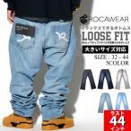 ロカウェア ROCAWEAR デニムパンツ ジーンズ 大きいサイズ R00J9914E B系 ストリート系 スケーター ファッション