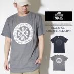 Tシャツ メンズ トップス 半袖 夏 おしゃれ ブランド 大きいサイズ サークルロゴT プリント SIR BENNI MILES 灰