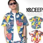 アロハシャツ メンズ 半袖 テンディープ 10DEEP シャツ メンズ 半袖 総柄 42TD3230