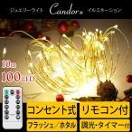 9月上旬入荷予約 ジュエリーライト LED イルミネーション 100球 10m コンセント 電球色 室内 インテリア フェアリーライト デコレーション