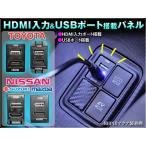 HDMI入力&USBポート搭載 スイッチホールパネル 各種メーカー専用設計 スマホ充電 HDMI