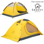 登山用 テント ツーリング 大きい フォーシーズンテント 4シーズン 2人用 2重構造 ダブルウォールテント 210×140cm 前室付