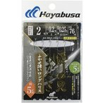 Hayabusa  瞬貫わかさぎ 細地袖型 ふかせ誘いロングハリス 5本鈎 1.5号ハリス0.2号