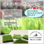 1円 人工芝 カットサンプル セット 7種類 クローバーターフ Kターフ メモリーターフ 見本 比べる お試し 庭 ベランダ