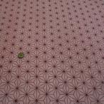 ダブルガーゼプリント(麻の葉 ピンク)