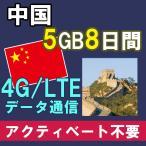 中国本土 大陸 プリペイド SIMカード販売 中港 7日間 3G 高速 定額 データ 通信 【中国全域+香港】