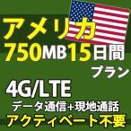 アメリカ 4G データ通信 プリペイド  通話 データ通信 750MB 15日間