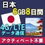 日本 プリペイド SIMカード 4G/3G データ通信 4GB/8日間 AIS Sim2Fly アジア周遊 送料無料 即日発送 あすつく