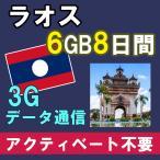 ラオス プリペイド SIMカード 4G/3G データ通信 3GB/8日間 AIS Sim2Fly アジア周遊 送料無料 即日発送 あすつく