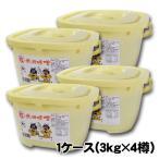 ヤマキウ 小玉醸造 秋田味噌粒(つぶ)取手付桶 3kg×4杯 なまはげ 大型単品配送
