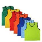 8色から選べる ビブス ベスト 大人用 5枚セット サッカー フットサル バスケケットボール チーム分け