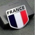フランス 国旗 アルミ製 プレートステッカー デコレーションステッカーラベル エンブレム