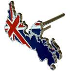 イギリス 国旗 ユニオンジャック 立体 金属製 フロント グリルバッジ デコレーション エンブレム