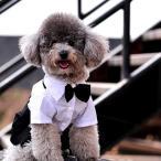 Yahoo!DOG LUCKタキシード 白黒 蝶ネクタイ コスプレ 衣装 結婚式 ハロウィン 仮装 猫 チワワ ダックス トイプードル メール便のみ 送料無料