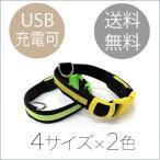 犬用LED光る首輪 USB充電可能 S〜XL