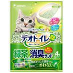 ユニチャーム 1週間消臭・抗菌デオトイレ 飛散らない緑茶成分入り・消臭サンド 4L (0759)