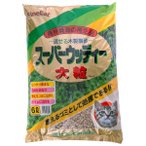 常陸化工 トイレに流せる木製猫砂 スーパーウッディ 大粒 6L 【猫砂】