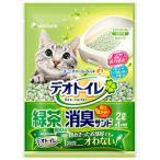 ユニチャーム 1週間消臭・抗菌デオトイレ 飛散らない緑茶成分入り・消臭サンド 2L (6885)