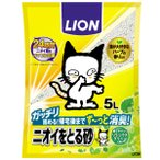 Yahoo!ドッグワールドライオン ニオイをとる砂 リラックスグリーンの香り 5L [猫砂] ※お一人様 2個まで