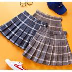韓国ファッション レディース スカート チェック柄 プ