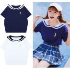 韓国ファッション 半袖Tシャツ レディース セーラー服
