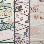 W巾ブッチャーPT新柄 北欧柄 繊細な枝と葉,小鳥柄 ※50cm以上10cm単位 フィンランド語で枝という意味の繊細でやさしいテキスタイル! 生地幅157cm