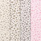 ショッピング綿 スムースニット K柄 豹柄 綿100% やわらか安心素材 キッズ 生地幅92cm ※50cm以上10cm単位の販売です。購入例・・数量5=50cm