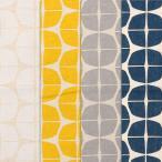 北欧 綿麻キャンバス【サークル】北欧プリント  生地幅110cm※50cm以上、10cm単位での販売です。購入例【50cmの場合は数量5です】