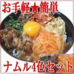 ナムル 4色セット 400g入(大根、豆もやし、ホウレンソウ、ぜんまい 各100g) 国産
