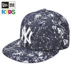 [送料無料] NEW ERA ニューエラ キッズ Kid's 9FIFTY スプラッシュペイント ニューヨーク・ヤンキース インディゴデニム × ホワイト [11404245] キャップ