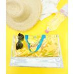 ショッピングプールバッグ 女の子 プールバッグ キッズキラキラバイカラープールバッグ クリアバッグ ビニールバッグ かばん 鞄 DONOBAN MAMA SELECT
