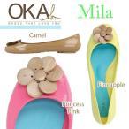 ショッピングオカビー OKAb. オカビー ミラ Mila フラットシューズ 2013SS 木製モチーフがキュートなポイント!ラバーシューズと
