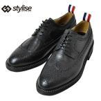 [送料無料] STYLISE SELECT スタイライズセレクト ウイングチップドレスシューズ / ブラック メンズ クツ 靴 シューズ ローファー スリッポン レザー