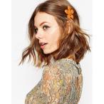 エイソス ASOS レディース ファッション雑貨・小物 ヘアアクセサリー ASOS Bright Flower Hair Clip Orange